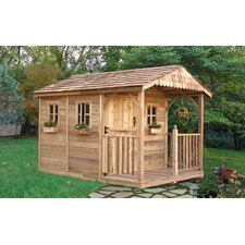 Santa Rosa 8' W x 12' D Wood Storage Shed