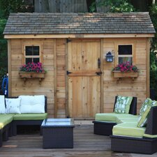 Cabana 12' W x 8' D Wood Garden Shed