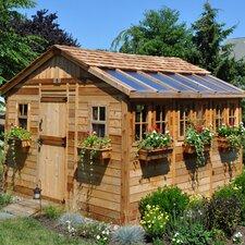 Sunshed 12ft. W x 12ft. D Wood Garden Shed