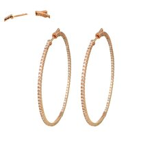 Cubic Zirconia Inside-Out Hoop Earrings