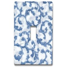 Damask Decorative Light Switch Cover - Single Toogle Switch