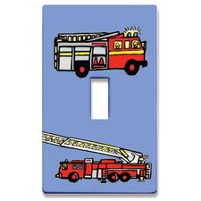 Fire Engines Decorative Light Switch Cover - Single Toogle Switch