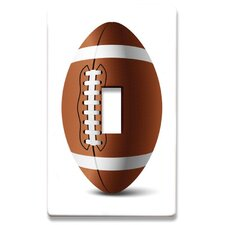 Football Decorative Light Switch Cover - Single Toogle Switch