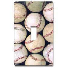 Group of Baseballs Decorative Light Switch Cover - Single Toogle Switch