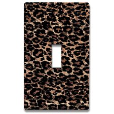 Leopard Print Decorative Light Switch Cover - Single Toogle Switch