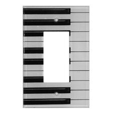 Artitude Piano Keys Decorative Light Switch Cover - Single Rocker Switch
