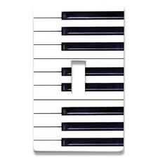 Piano Keys Decorative Light Switch Cover - Single Toogle Switch