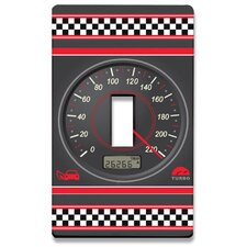 Speed Racer Decorative Light Switch Cover - Single Toogle Switch