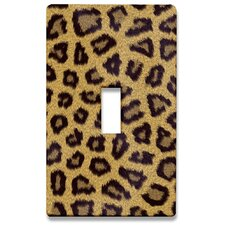 Leopard Fur Decorative Light Switchplate Cover - Single Toggle Switch