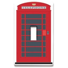 London Phone Booth Decorative Light Switchplate Cover - Single Toggle Switch