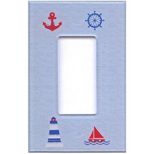 Artitude Nautical Decorative Light Switch Cover - Single Rocker Switch