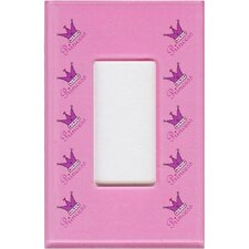 Artitude Princess Decorative Light Switch Cover - Single Rocker Switch