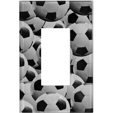 Artitude Soccerballs Decorative Light Switch Cover - Single Rocker Switch