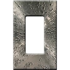 Artitude Water Drops on Stainless Steel Decorative Light Switch Cover - Single Rocker Switch