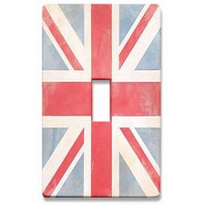 Vintage Union Jack Decorative Light Switchplate Cover - Single Toggle Switch