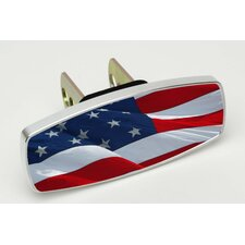 HitchMate Waving Flag Premier Series Hitch Cap