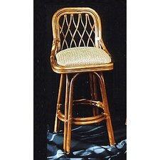 <strong>Boca Rattan</strong> Coco Cay Bar Stool with Cushion