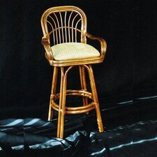 <strong>Boca Rattan</strong> Amarillo Bar Stool with Cushion
