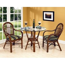 <strong>Boca Rattan</strong> Amarillo 3 Piece Dining Set