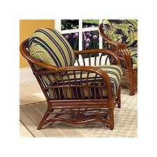<strong>Boca Rattan</strong> Amarillo Leather Armchair