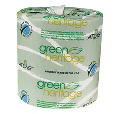 Green Heritage 2-Ply Toilet Paper - 500 Sheets per Roll