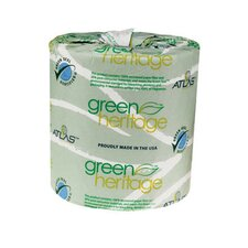"<strong>Atlas Paper Mills</strong> Green Heritage Toilet 2.4"" Tissue, 2-Ply, 500/Roll"