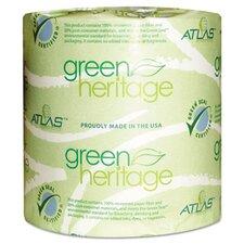 Green Heritage 2-Ply Toilet Paper - 500 Sheets per Roll / 96 Rolls per Carton
