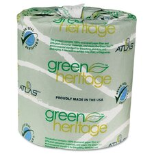 <strong>Atlas Paper Mills</strong> Atlas Paper Mills Green Heritage Bathroom Tissue, 2-Ply, 500 Sheets, 96 Per Carton