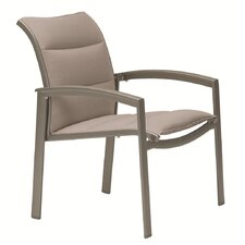 <strong>Tropitone</strong> Elance Stacking Padded Sling Dining Arm Chair