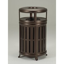Radiance Waste Receptacle with Hood and Ash Urn