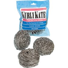 Large Kurly Kate Stainless Steel Scrubbers 12 per Pack