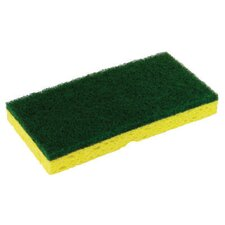 "3.13"" x 6.25"" Medium-Duty Scrubber Sponge in Yellow/Green"