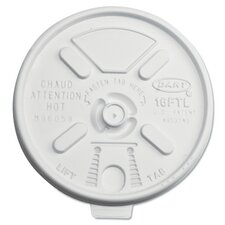 Lift n' Lock Plastic Hot Cup Lids for 12-24 oz. Cups (Carton of 1,000)