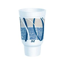 32 Oz Flush Fill Printed Impulse Foam Hot / Cold Drinking Cup