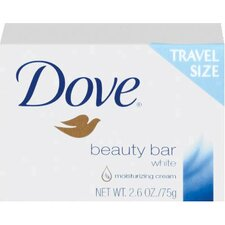 2.6 Oz White Travel Size Bar Soap with Moisturizing Lotion