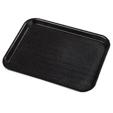 12 x 16 Plastic Café Foodservice Tray in Black