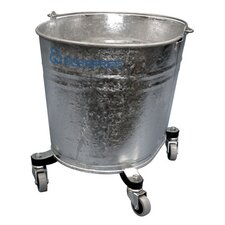 "Seaway Galvanized 26 Quart Oval Mop Bucket with 2"" Casters"