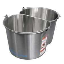Stainless Steel 2 - 5 Gallon Half Round Buckets