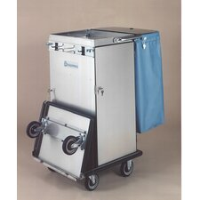 Escort Rx Stainless Steel Housekeeping Cart with Folding Tray