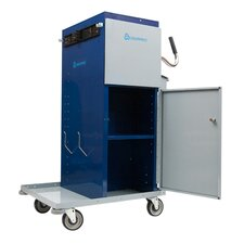 Tall Powder Coated Microfiber High Capacity Cart
