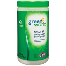 "<strong>GREENWORKS ®</strong> 7"" x 7.5"" Natural Wipes in White"