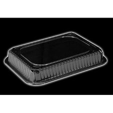 Plastic Dome Rectangle Lid in Clear Fits 1.5 Lb Oblong Pan
