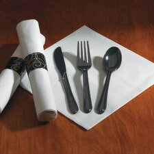 Heavyweight Fork/Knife/Spoon Utensil Set in Black (100 packs per carton)
