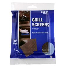 Griddle-Grill Screen with Aluminum Oxide in Brown - 8/Pack