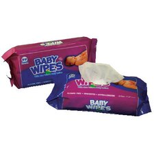Baby Wipes Refill Pack with Unscented in White - 80/Pack