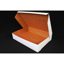 "4"" x 14"" Tuck-Top Bakery Boxes in White"