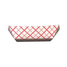 2 lbs Paper Food Baskets in Red / White
