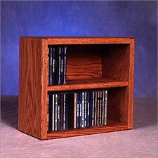 <strong>Wood Shed</strong> 200 Series 52 CD Multimedia Tabletop Storage Rack