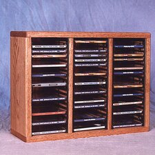 <strong>Wood Shed</strong> 300 Series 60 CD Multimedia Tabletop Storage Rack