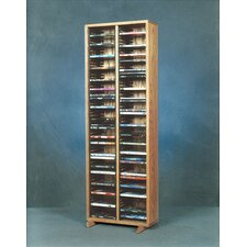 <strong>Wood Shed</strong> 200 Series 128 DVD Multimedia Storage Rack